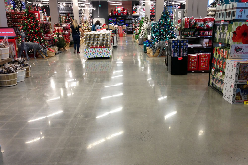 Concrete Polishing and Sealing Ltd - Canadian Tire Retail Store, Ottawa