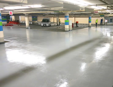 Ottawa City Hall Parking Traffic Deck Topping by Concrete Polishing & Sealing Ltd.