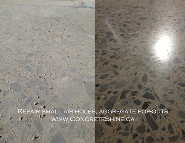Concrete floor repair in Ottawa by Concrete Polishing and Sealing Ltd.